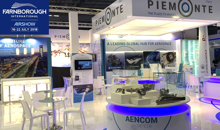 AENCOM Farnborough International Airshow Stand Fiera