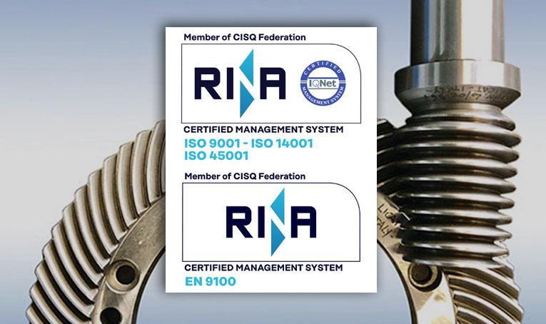 certificazione RINA gestione qualità ambiente sicurezza