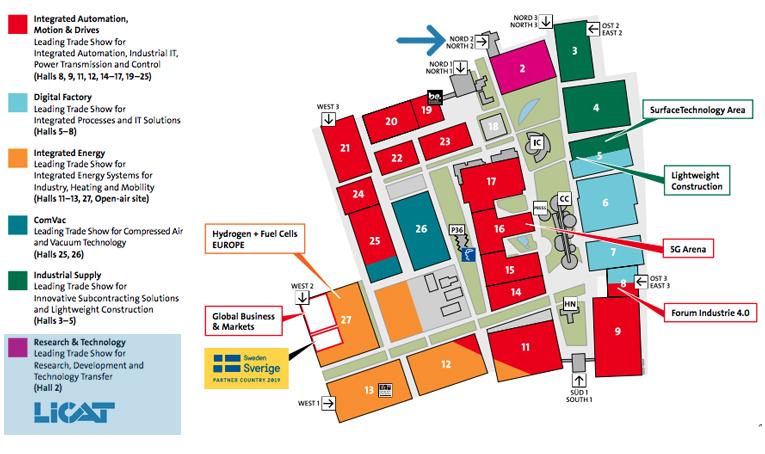 Hannover Messe 2019 piantina della fiera