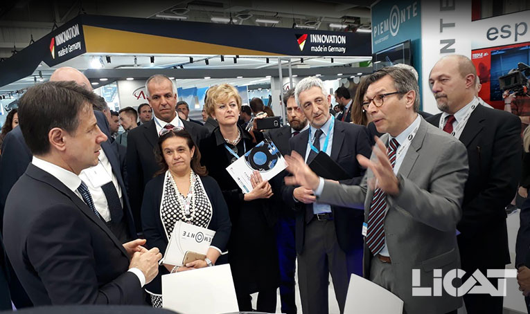 Salon International Aéronautique Paris Air Show 2019 Premier Ministre Giuseppe Conte